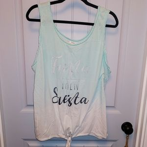 Maurices Tops - Maurices- Fiesta then Siesta tank top